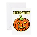 Trick or Treat Halloween Pumpkin Greeting Cards (P