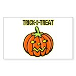 Trick or Treat Halloween Pumpkin Sticker (Rectangu