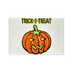 Trick or Treat Halloween Pumpkin Rectangle Magnet