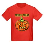 Trick or Treat Halloween Pumpkin Kids Dark T-Shirt