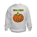 Trick or Treat Halloween Pumpkin Kids Sweatshirt