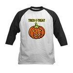 Trick or Treat Halloween Pumpkin Kids Baseball Jer