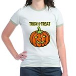Trick or Treat Halloween Pumpkin Jr. Ringer T-Shir