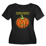 Trick or Treat Halloween Pumpkin Women's Plus Size