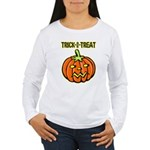 Trick or Treat Halloween Pumpkin Women's Long Slee