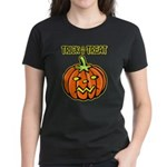 Trick or Treat Halloween Pumpkin Women's Dark T-Sh