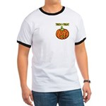 Trick or Treat Halloween Pumpkin Ringer T