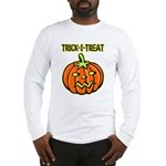 Trick or Treat Halloween Pumpkin Long Sleeve T-Shi
