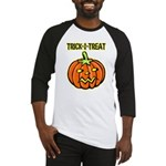 Trick or Treat Halloween Pumpkin Baseball Jersey