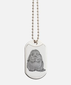 Holland Lop by Karla Hetzler Dog Tags