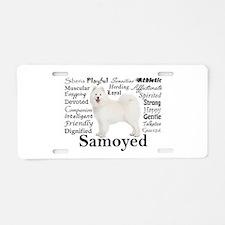 Samoyed Traits Aluminum License Plate