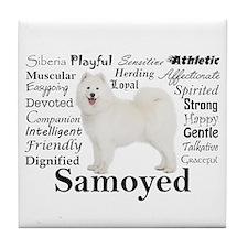 Samoyed Traits Tile Coaster