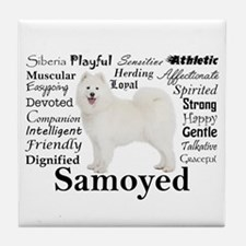 Samoyed Traits Tile Coaster