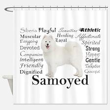 Samoyed Traits Shower Curtain