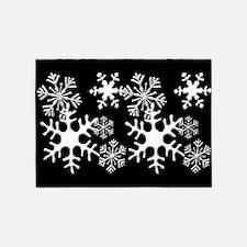 Snowflakes 5'x7'Area Rug