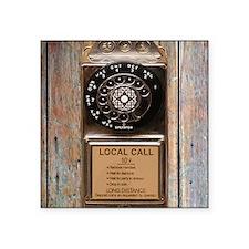 "Cute Rotary dial Square Sticker 3"" x 3"""