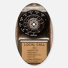Phone dial Sticker (Oval)