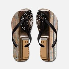 Cute Phone booth Flip Flops