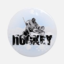 Hockey Player Round Ornament