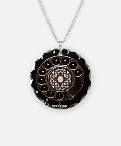 Rotary phone vintage dial telephone Necklace