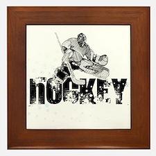 Hockey Player Framed Tile