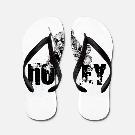 Hockey Player Flip Flops