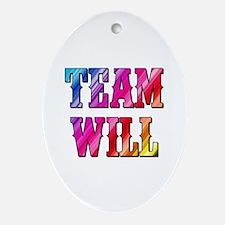 TEAM WILL Oval Ornament