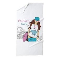 Fashion Girl Beach Towel