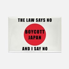 Boycott Japan - The Law Says No and I Say Magnets