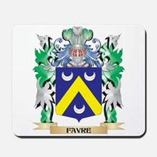 Favre Coat of Arms (Family Crest) Mousepad