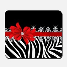 Zebra (red) Mousepad