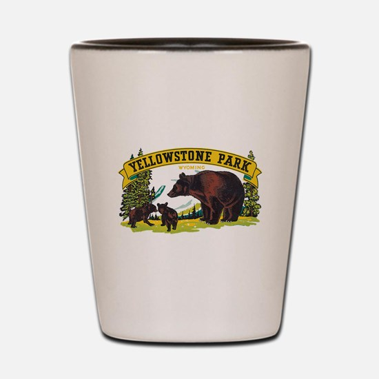 Yellowstone Bears Shot Glass