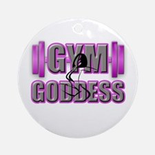 Gym Goddess-Design 2 Round Ornament