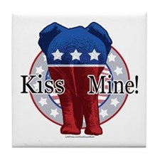 Kiss Mine GOP Tile Coaster