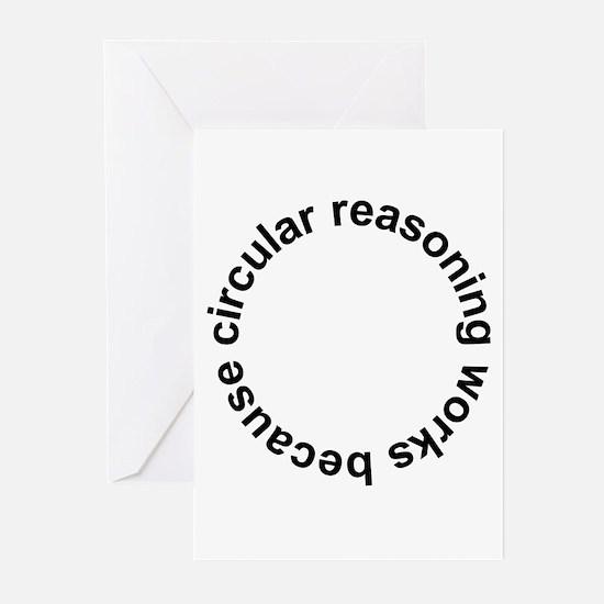 Circular Reasoning Works Greeting Cards (Pk of 10)