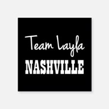 "TEAM LAYLA Square Sticker 3"" x 3"""