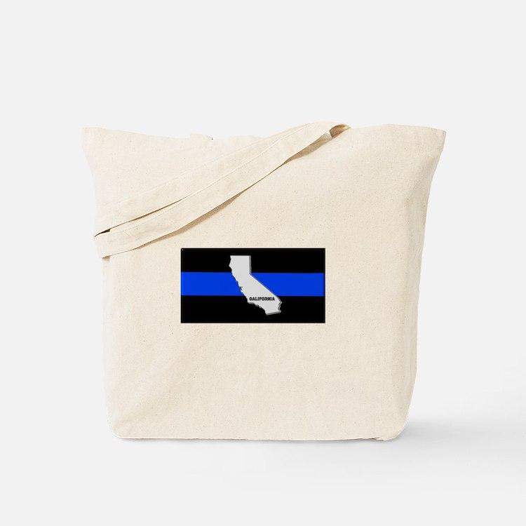 California Thin Blue Line Tote Bag