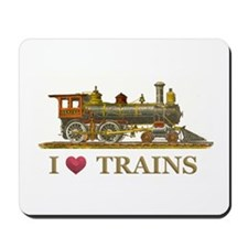I Love Trains Mousepad