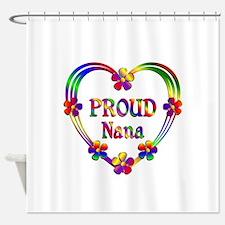 Proud Nana Heart Shower Curtain