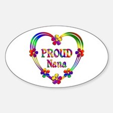 Proud Nana Heart Sticker (Oval)