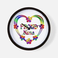 Proud Nana Heart Wall Clock