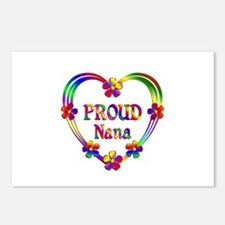Proud Nana Heart Postcards (Package of 8)