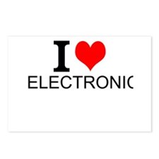 I Love Electronics Postcards (Package of 8)