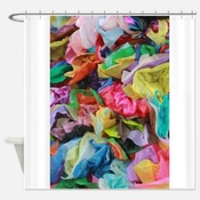 crepe paper flowers Shower Curtain