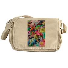 crepe paper flowers Messenger Bag