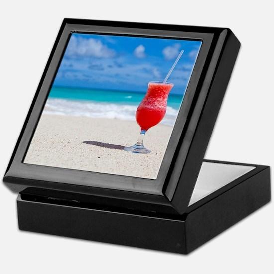 daiquiri paradise beach Keepsake Box