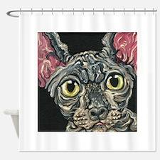 Sphynx Hairless Cat Shower Curtain
