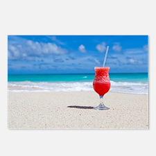 daiquiri paradise beach Postcards (Package of 8)