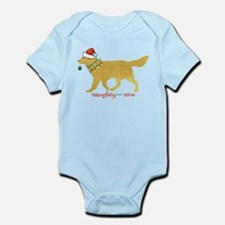 Naughty Christmas Golden Retriever Body Suit