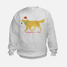 Naughty Christmas Golden Retriever Sweatshirt